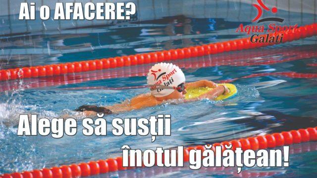 Susține înotul gălățean!
